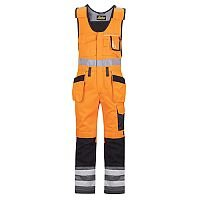 Snickers 0213 High-Vis One-piece Holster Pocket Trousers Class 2 Hi-Vis Orange/Black Size 104 (Waist:38inch/Height:5'4ft)