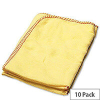 2Work Yellow Duster Cloths 508 x 355mm (Pack 10) 103088 zzvv 034729