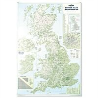 British Isles Motoring Map Unframed Map Marketing BIM
