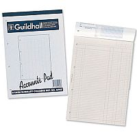 Guildhall Account Pad 2 Cash Column Ruled 41 Feint 4-Hole Punched 60 Leaf A4 GP2