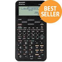 Sharp WriteView Scientific Calculator Dot Matrix Display 335 Functions 80x15x161mm Blk Ref SH-ELW531TLBBK