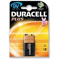 Duracell Plus 9 Volt Alkaline Battery - Suitable For Use With Portable Games Consoles, Shavers, Remote Controls, CD Players, Motorized Toys, Flashlights, Toothbrushes & More