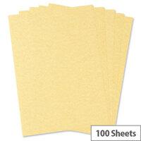 HuntOffice Parchment Premium Printer Paper A4 100gsm Gold 100 Sheets