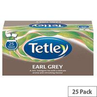 Tetley Earl Grey Tea Drawstring Tea Bags in Envelope Pack of 25 1277A
