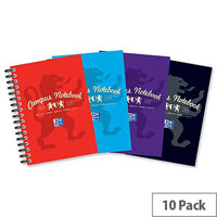 Campus A6 Notebook Laminated Card Cover Wirebound 140 Pages 90gsm Ref 400013923 [Pack 10]