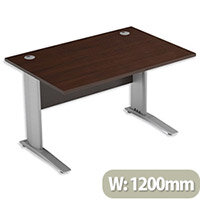 Cantilever Office Desk Rectangular W1200xD800xH725mm Dark Walnut Komo