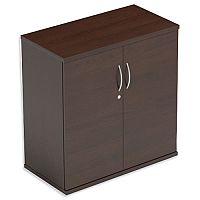 Low Cupboard with Lockable Doors W800xD420xH770mm Dark Walnut Kito