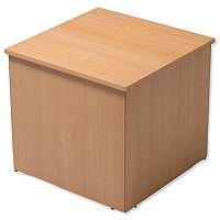 Reception Cube Corner Desk  W800xD800xH740mm Beech Ashford