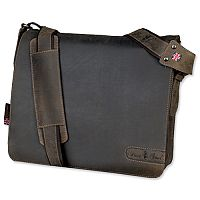 Pride & Soul Ben Shoulder Shoulder Strap Leather Brown Messenger Laptop Bag