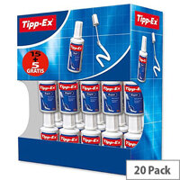 Tipp-Ex Rapid Correction Fluid Fast-drying 20ml White Pack 15+5 Ref 895950