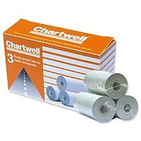 Chartwell Digital Tachograph Thermal Rolls 57mm x 8m DPROLLZ Pack 3