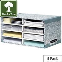 Fellowes Bankers Box Desktop Sorter Grey Ref 08750 [Pack 5]