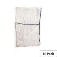 Dish Cloths Cotton Stockinette Dishcloths Blue Pack 10