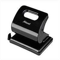 Rexel V220 Value Punch 2-Hole Metal Capacity 20x 80gsm Black Ref 2100763