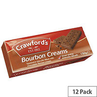 Crawfords Bourbon Cream Biscuits (Pack of 12)