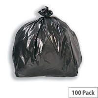 5 Star Compacta Refuse Sacks Extra Large Heavy Duty W560xD840xH1190mm Black Pack 100