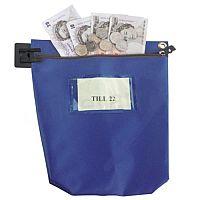 Blue Large Cash Bag