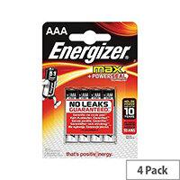 Energizer Max AAA Alkaline Batteries Pack of 4