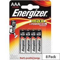 Energizer Max (AAA) Alkaline Batteries (Pack of 8 Batteries)