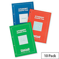 Silvine Student Graph Pad 90gsm 5mm Quadrille 50 Sheets A4 Ref A4GPX Pack 10