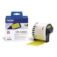Brother P-touch DK-44605 62mm x 30.48m Continuous Removable Yellow Paper Tape
