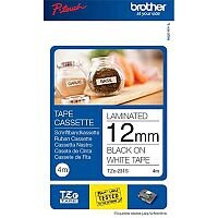 Brother P-Touch TZe-231S 12mm x 4m Black On White Labelling Tape
