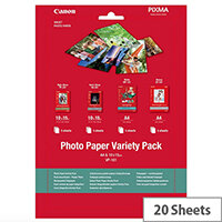 Canon Variety Pack Photo Paper A4 10x15 (Pack of 20) Ref 0775B079