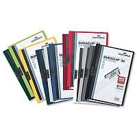 Durable Duraclip 60 Black Presentation Folder A4 6mm 60 Sheets Pack 25