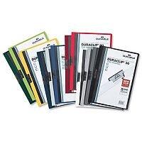 Durable Duraclip 60 Dark Blue A4 Presentation Folder Clear Front 6mm 60 Sheets Pack 25