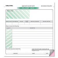 Delivery Note Form 2 Part 207x220mm Pack 50 Sigma