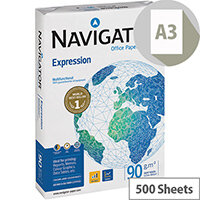 Navigator A3 Expression Paper Extra Smooth 90gsm White 500 Sheets