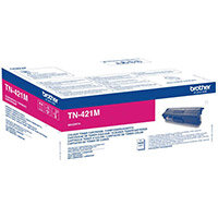 Brother TN-421M Yield: 1,800 Pages Magenta Toner Cartridge