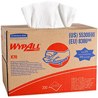 Wypall X70 Cleaning Cloth Brag Box 1 Ply Sheet 427x318mm Ref 8386 (Pack 200)