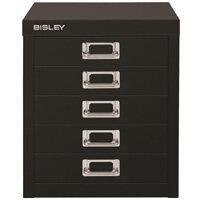 Bisley SoHo Multidrawers 5-Drawer 51mm Drawer Height Black