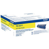 Brother TN-421Y Yield: 1,800 Pages Yellow Toner Cartridge