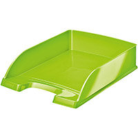 Leitz WOW Letter Tray Stackable Glossy Green Pack of 5 Ref 52263054