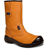 Supertouch Black- Orange Rigger Boots Toecap Size 10