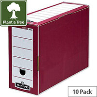 Fellowes Bankers Box Premium Transfer File Red and White Pack 10