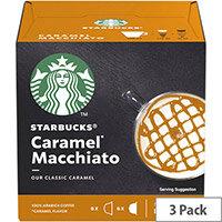 STARBUCKS Caramel Macchiato Capsules for Dolce Gusto Machine 12397694 Pack 36 (3x12 Capsule=18 Drinks)