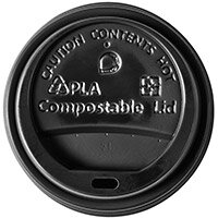 Ingeo Ultimate Eco Compostable CPLA Domed Sip-Through lid Ref 0511226 Pack (50)