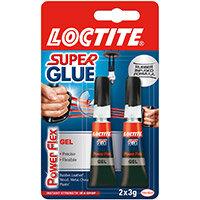 Loctite Super Glue Duo Gel Tubes x2 3g Clear Ref 2560191