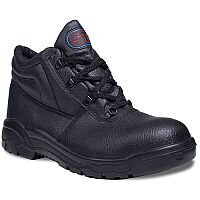 Supertouch Chukka Black Boots Leather with Steel Toecap & Midsole Size 5