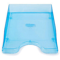 A4/Foolscap Polystyrene Continental Letter Tray Ice Blue