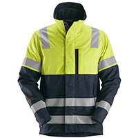 Snickers 1560 ProtecWork High-Vis Work Jacket Class 1 Size XXL Long Yellow & Navy