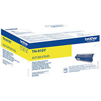 Brother TN-910Y Yield: 9,000 Pages High Ultra Yield Yellow Toner Cartridge TN910Y