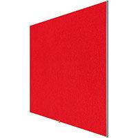 Nobo 32 inch Widescreen Felt Board 710x400mm Red Ref 1905310