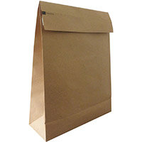 Kraft Mlr Eco Expanding Block Btm & Side Gusset Dbl P&S 350x450x80mm+100 flap Man Ref RBL10529 Pack of 50