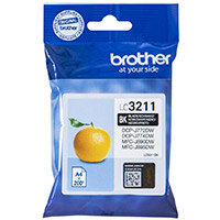Brother LC3211BK Yield: 200 Pages Black Ink Cartridge