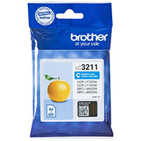 Brother LC3211C Yield: 200 Pages Cyan Ink Cartridge