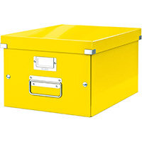 Leitz Click & Store Collapsible Storage Box Medium For A4 Yellow Ref 60440054